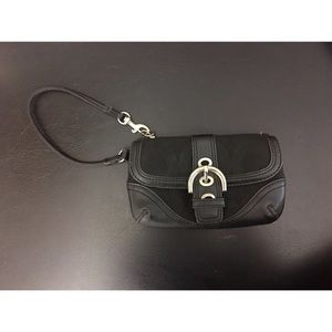 Coach Black Handbag Purse Wallet Wristlet